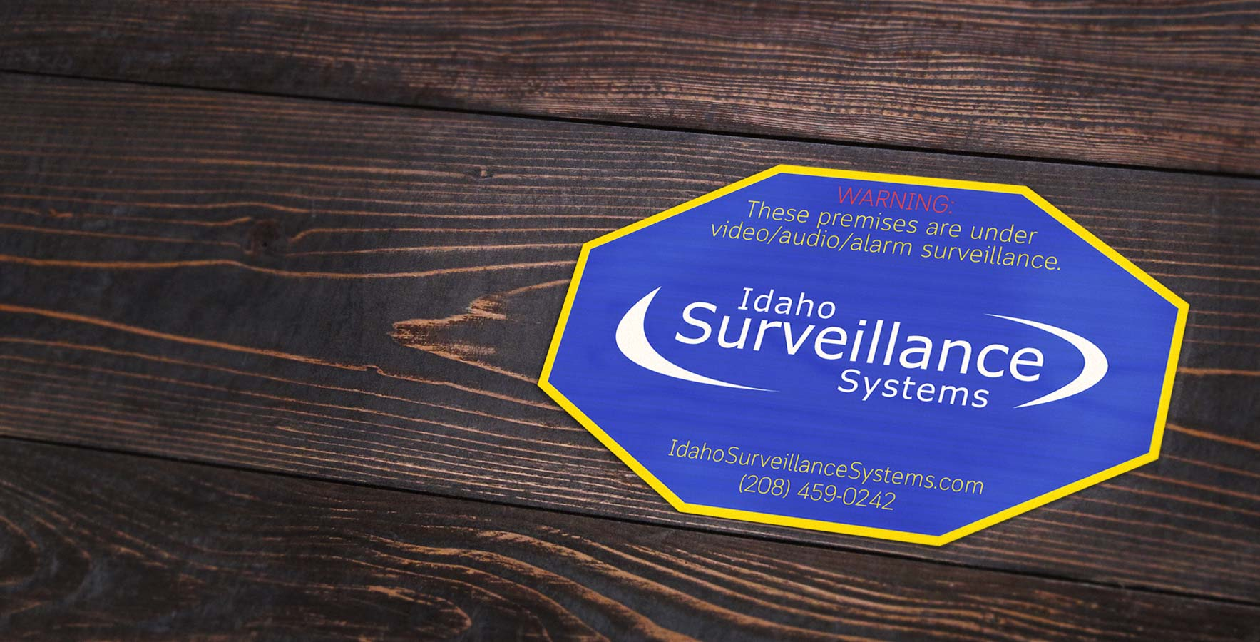 Video Surveillance Warning Sticker